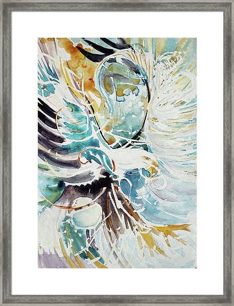 Sun Moon Water Sky Framed Print