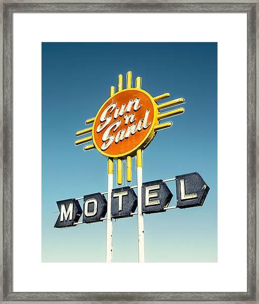 Sun 'n Sand Framed Print by Humboldt Street