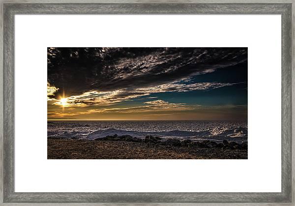 Sun Peeks Through Framed Print