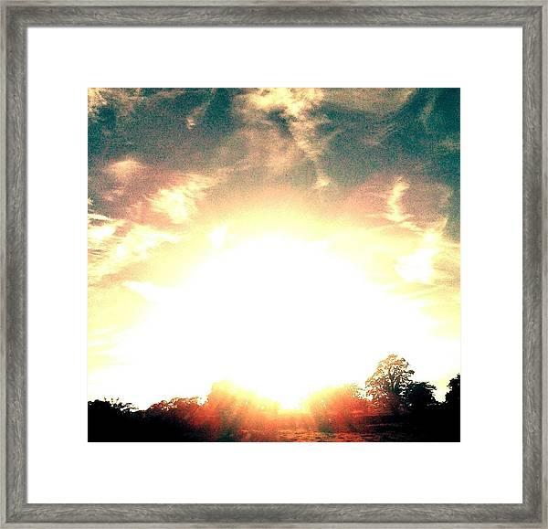 Sun Pyramid Framed Print