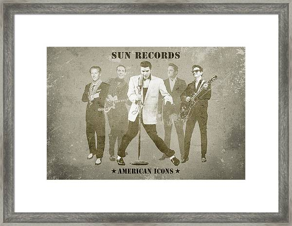American Icons - Sun Records Framed Print