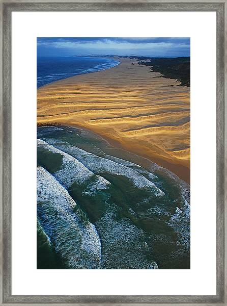 Framed Print featuring the photograph Sun Rise Coast  by Skip Hunt