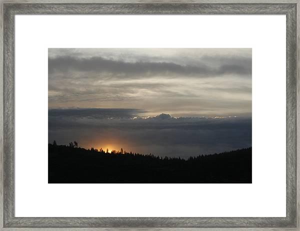 Sun Rises On Ridge Framed Print