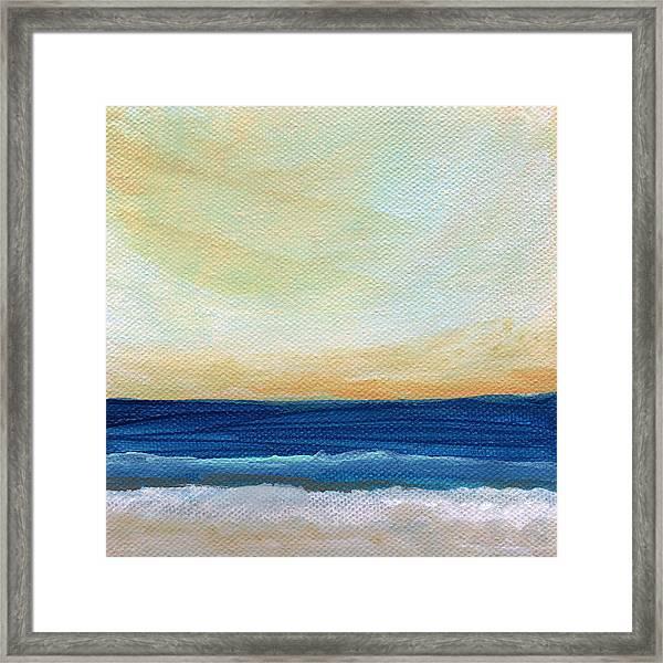Sun Swept Coast- Abstract Seascape Framed Print