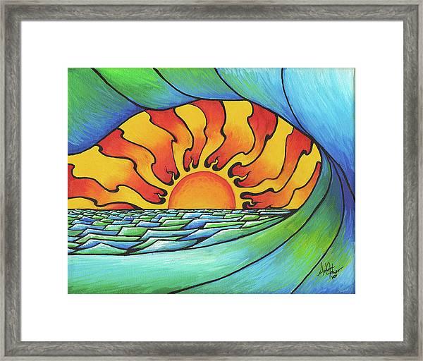 Sun Through The Curl Framed Print