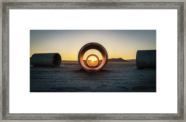Sun Tunnel Solstice Framed Print