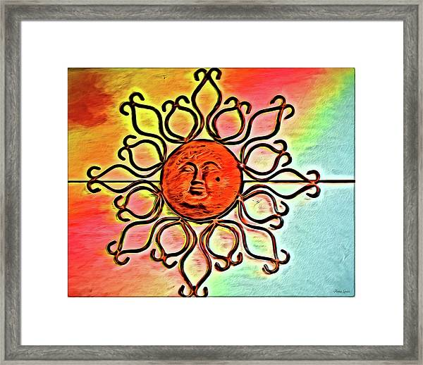 Sun Wall Decoration Framed Print