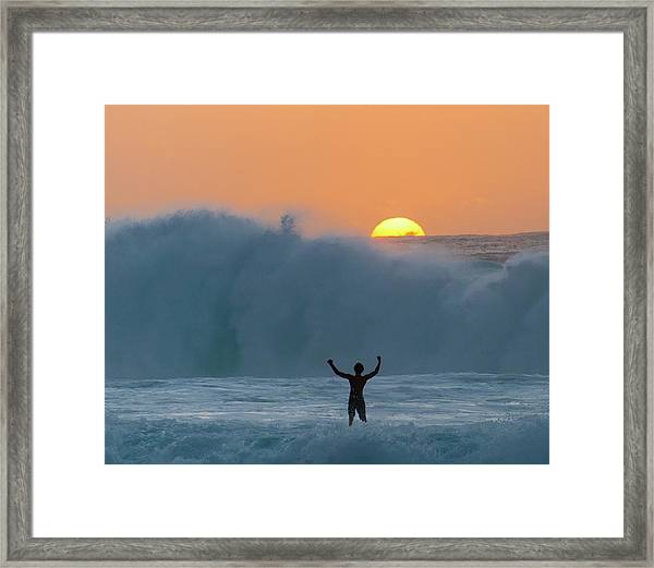 Sun Worship Framed Print
