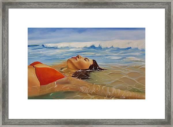 Sunbather Framed Print
