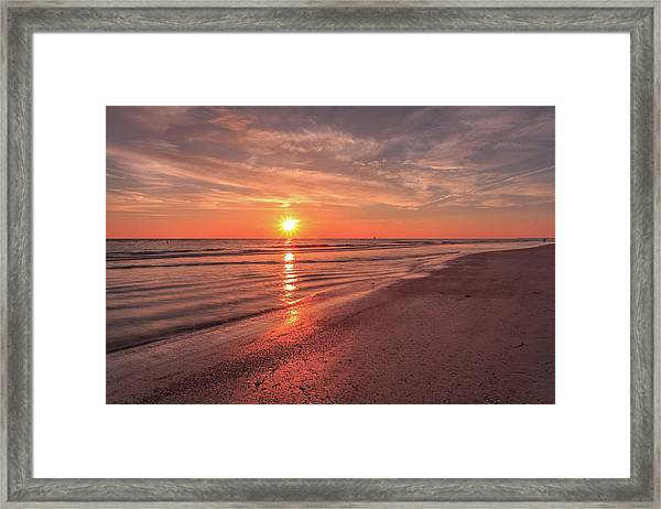 Sunburst At Sunset Framed Print