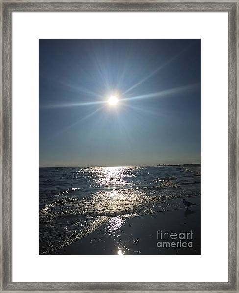 Sunburst Reflection Framed Print