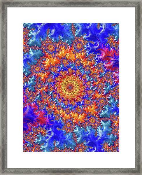 Sunburst Supernova Framed Print