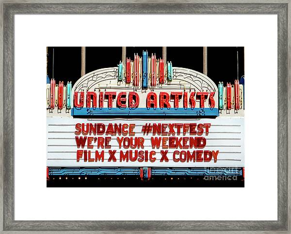 Sundance Next Fest Theatre Sign 1 Framed Print