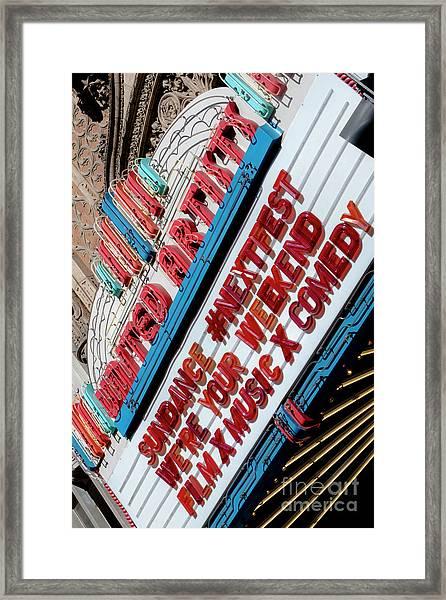 Sundance Next Fest Theatre Sign 2 Framed Print