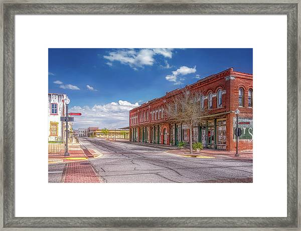 Sunday In Brenham, Texas Framed Print