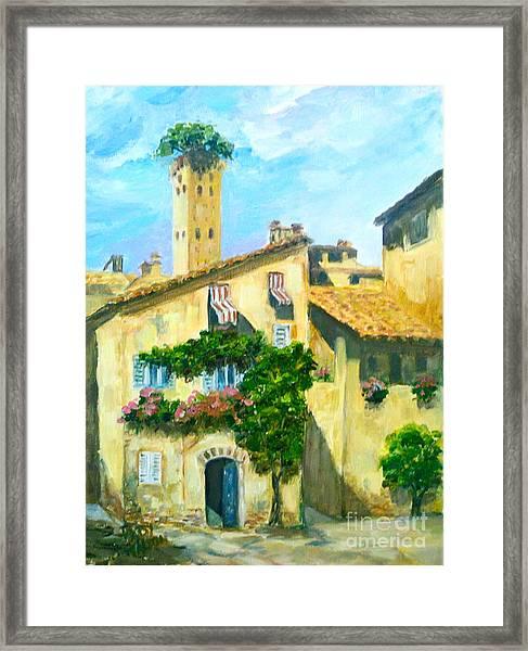 Sunday In Siena Framed Print