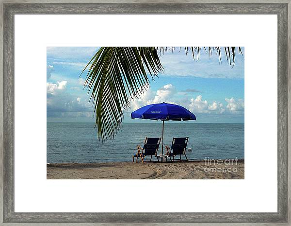 Sunday Morning At The Beach In Key West Framed Print