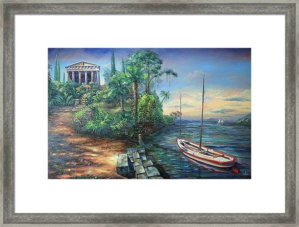 Sunday Morning Greco Floridian Twist Framed Print