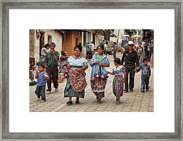 Sunday Morning In Guatemala Framed Print