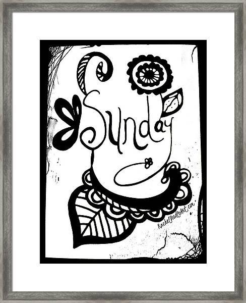 Framed Print featuring the drawing Sunday by Rachel Maynard