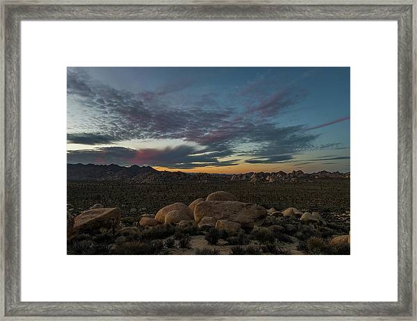 Sundown From Hilltop View Framed Print