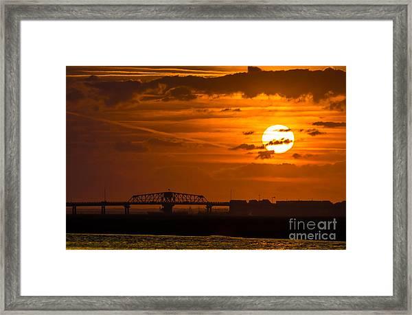 Sundown On The Charleston Coast  Framed Print