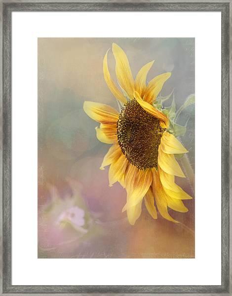Sunflower Art - Be The Sunflower Framed Print