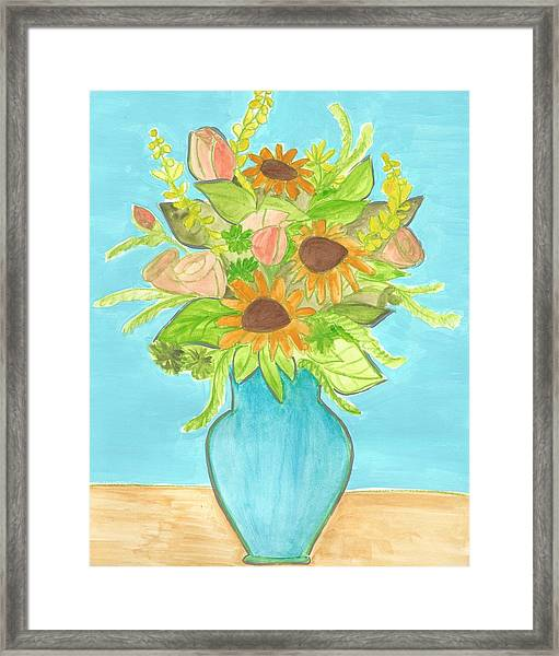 Sunflower Bouquet  Framed Print