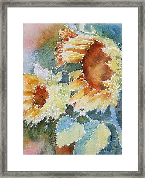 Sunflower Love Framed Print