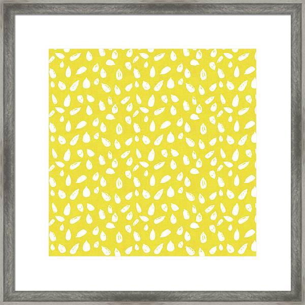 Sunflower Seeds- Art By Linda Woods Framed Print