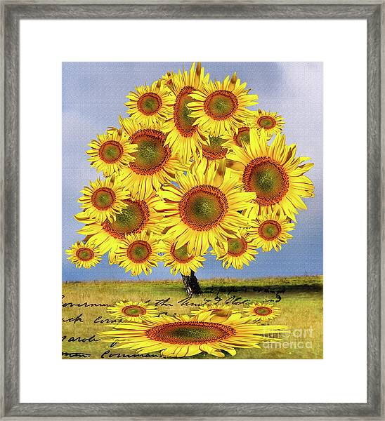 Sunflower Tree Framed Print
