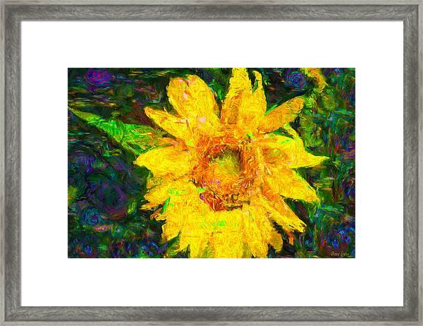 Sunflower Van Gogh Framed Print