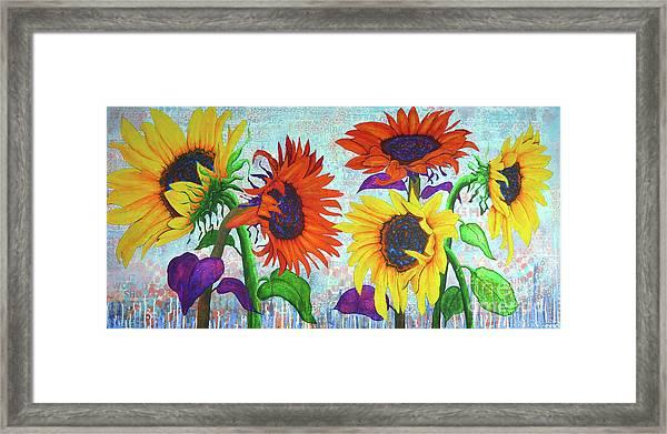 Sunflowers For Elise Framed Print