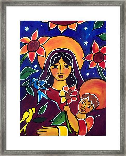 Sunflowers For Mary Framed Print