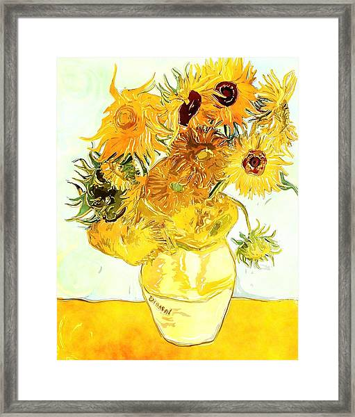 Sunflowers Van Gogh Framed Print