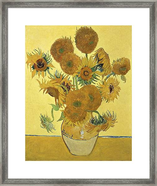 Sunflowers, 1888  Framed Print