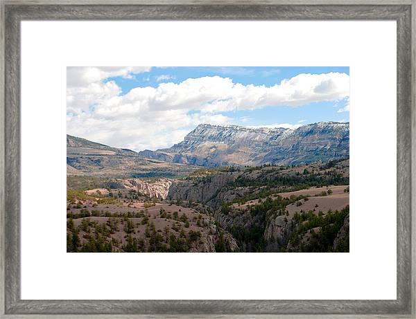 Sunlight Creek Of Wy Framed Print