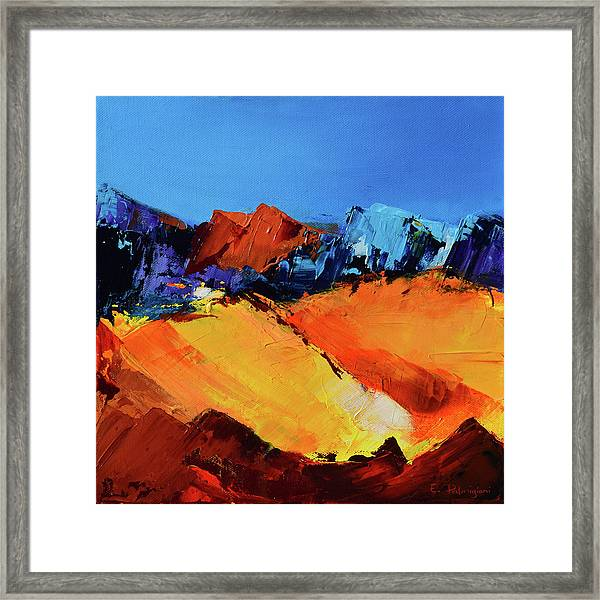 Framed Print featuring the painting Sunlight In The Valley by Elise Palmigiani