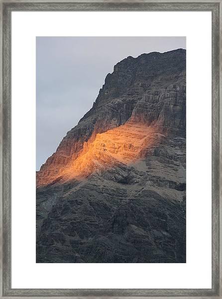 Sunlight Mountain Framed Print
