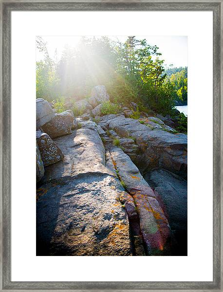 Sunlight On Cove Point Framed Print