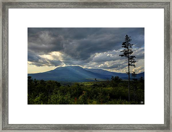 Sunlight On Katahdin Framed Print