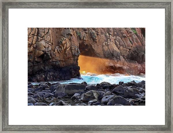Sunlight Through  Framed Print