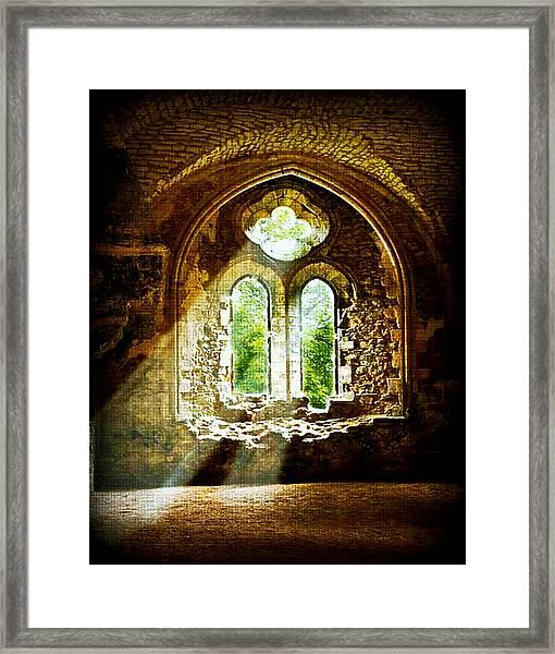 Sunlight Through The Ruins Framed Print