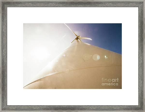 Sunlit Wind Power Framed Print