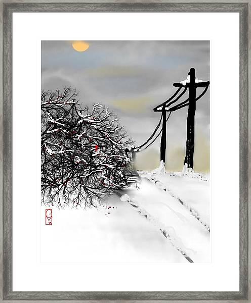 Sunny 28 Below Framed Print