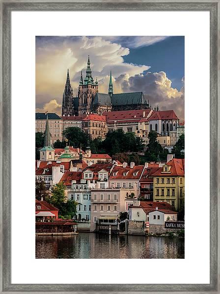 Sunny Afternoon In Prague Framed Print