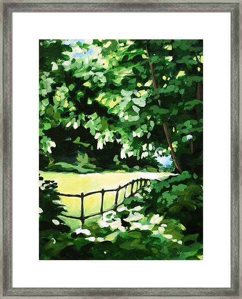 Sunny Clearing Framed Print