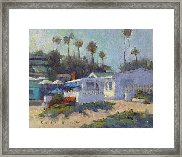 Sunny Day At Crystal Cove Framed Print