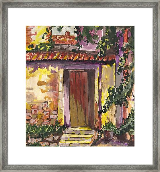 Sunny Doorway Framed Print