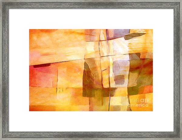 Sunny Scene Framed Print